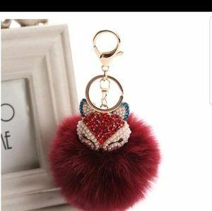 Accessories - New! Fox pom pom keychain